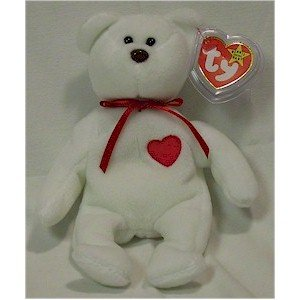 Valentino the Bear Ty Beanie Baby Retired Valentine's Day