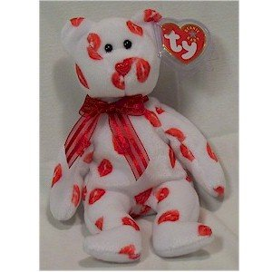 Smooch the Bear Ty Beanie Baby Retired Valentine's Day