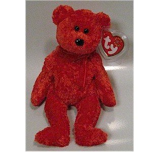 Sizzle the Bear Ty Beanie Baby Valentine's Day Retired