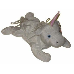 Mystic the Unicorn Ty Beanie Baby Retired Yarn Mane Tail