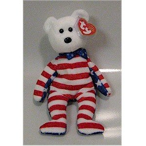 Liberty the White Face Bear Ty Beanie Baby Retired USA