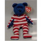 Liberty the Blue Face Bear Ty Beanie Baby Retired USA