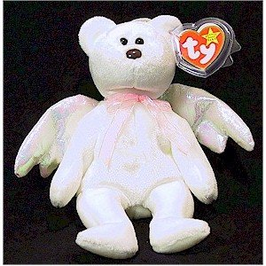 Halo the White Wing Angel Bear Ty Beanie Baby Retired Christmas