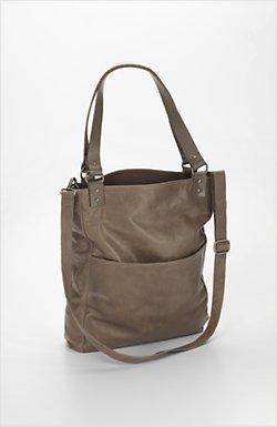 J.Jill Chelsea Leather Bucket Bag Purse Handbag Tote JJILL J Jill