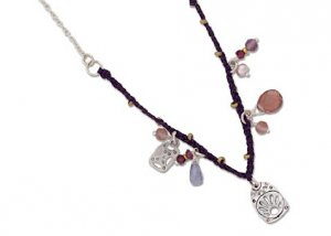 Silpada Sterling Silver & Mixed Material Necklace N2346