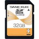 Dane Elec-32GB High-Speed Class 4 SDHC Flash Card