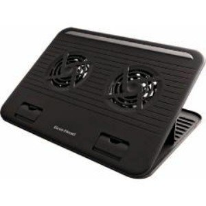 Gear Head-Black 15.6 Dual-Cool Notebook Cooling Stand