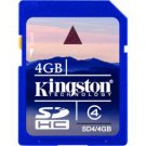 Kingston-4GB SDHC Memory Card Class 4