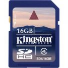 Kingston-16GB SDHC Memory Card Class 4