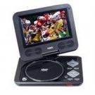 "Naxa-7"" TFT LCD Swivel Screen Portable DVD Player with USB/SD/MMC Inputs"