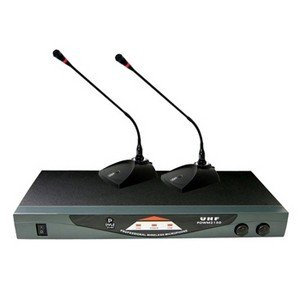 Pyle-Professional Dual Table Top VHF Wireless Microphone System