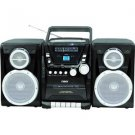 Naxa-AM/FM Stereo Radio Cassette Player/Recorder Top Loading MP3/CD