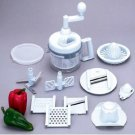 Kitchen Plus 2000-20pc Hand Operated Food Processor