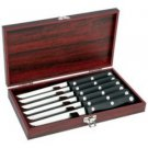 Slitzer-7pc Steak Knife Set in Wood Box
