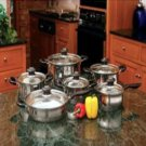 Wyndham House™ by Justin Wilson-12pc Stainless Steel Cookware Set