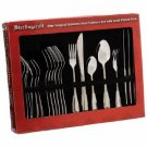 Sterlingcraft-20pc Surgical Stainless Steel Flatware Set with Gold-Plated Trim