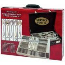 Sterlingcraft-72pc High-Quality, Heavy-Gauge S.S. Flatware and Hostess Set with 24K Gold Trim