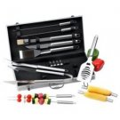 Chefmaster-19pc All Stainless Steel Barbeque Tool Set