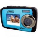 Coleman-14.0 Megapixel Duo Underwater Dual Screen Digital Camera (Blue)