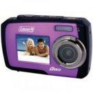 Coleman-14.0 Megapixel Duo Underwater Dual Screen Digital Camera (Purple)