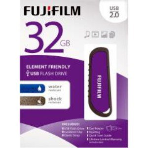 Fujifilm-32GB USB 2.0 WR Flash Drive with Cap