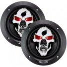 "Boss-Phantom Skull 3-Way Black Injection Cone Speakers with Custom-Tooled Skull Cover (5.25"")"