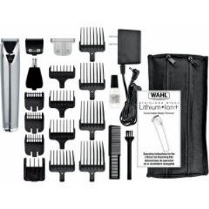 Wahl-Rechargeable Stainless Steel LithiumIon+ All-In-One Trimmer
