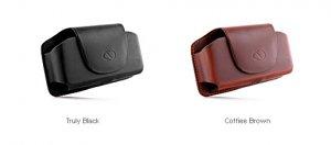 Naztech Black Bravo Treo 650 / 700 Leather Clip Case