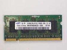 Samsung 512mb PC2-5300S-555-12-A3 Laptop Memory M470T6554EZ3-CE6