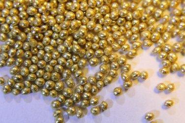 Gold caviar beads