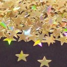 GOLD HOLOGRAPHIC  STARS 1/4""