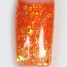 GID Twinkling Orange acrylic glitter .25oz (baggie)