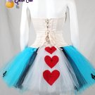 Charlotte Russe Corset and handmade tutu Alice in wonderland costume