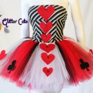 Charlotte Russe top and handmade tutu Alice in wonderland queen of hearts