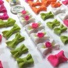 111 handmade acrylic bows charms