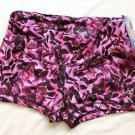 Champion Women's Absolute Workout Fitted Short Pink Purple Lilac Floral M