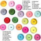 Custom set of 5 colored nail acrylic powder 1/2oz each 14grams .50 oz
