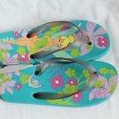 NEW DISNEY SUMMER Flip Flop Sandals TINKER BELL LILAC TEAL PURPLE 6 5.5