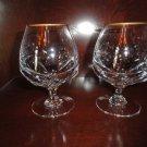 Faberge Aurora Double Brandy Glasses  in the original box with COA