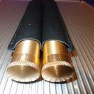 Cigar Classics Twin Gold Cigar Tube Holder in Black Leather NIB