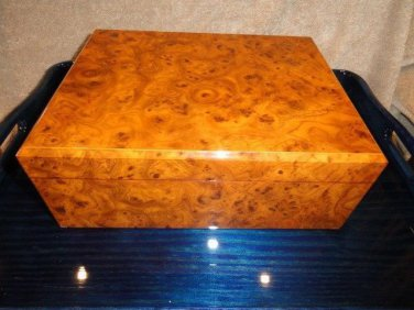 MASTRO DE PAJA -  Burl Wood cigar Humidor 50 count Made in Italy