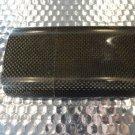 porsche carbon fiber cigar case preowned in black suede pouch