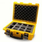 Invicta watch carrying case in bright yellow holds 8 watches
