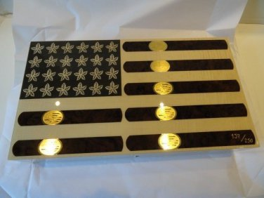 "Elie Bleu Stars & Stripes "" Flag with Cigar Humidor 110 Count NIB Made in France"