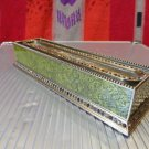 Edgar Berebi Great Expectations Green Lacquered  Pen Tray with Topaz Crystals