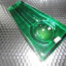 Comoy's of London Emerald Green Heavy Glass Cigar Ashtray made in Italy