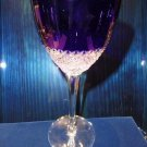 Faberge Crystal Cobalt Blue  Goblet Glass without Faberge Box
