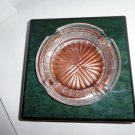 alfred dunhill green burl wood ashtray new in the box