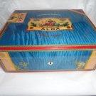 Elie Bleu Flor de Alba Blue Sycamore  Humidor 75 Ct new in the original box
