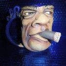 coffee mug cigar smoking man new without the box # 003